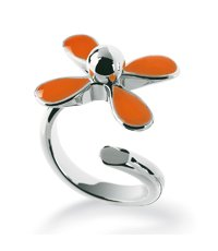 JRO004-8 Flowerlyric Orange Ring