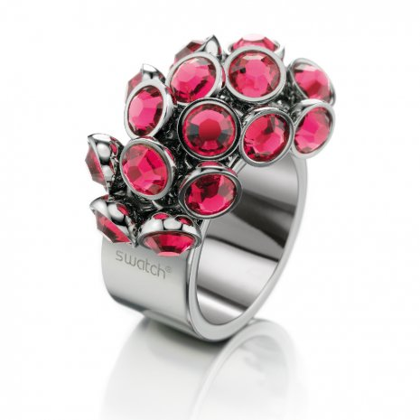 Swatch Bijoux Love Explosion Pink Crystals Ring Anéis