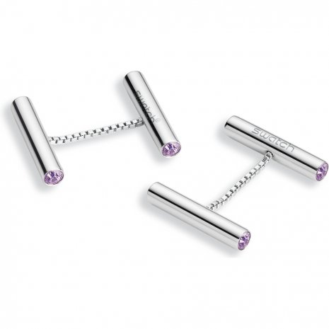 Swatch Bijoux Lustro Purple Cufflinks