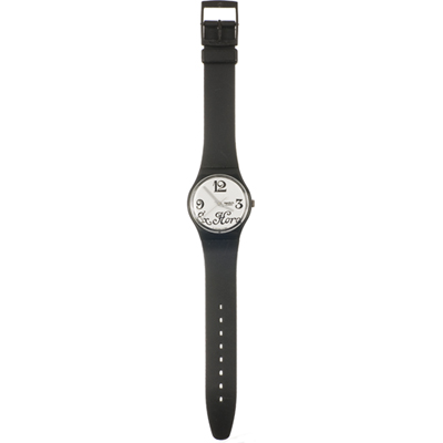 Swatch Black Letter (As good as new) relógio