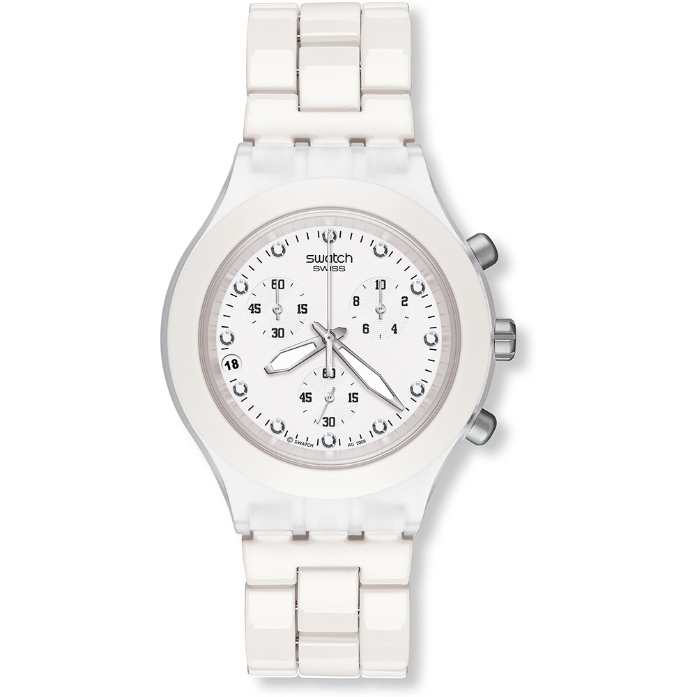 f9829f232f3 relógio Swatch SVCK4045AG - Full-Blooded White