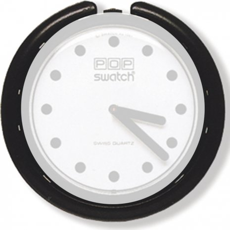 Swatch BB001 Jet Black Sticker Bracelete