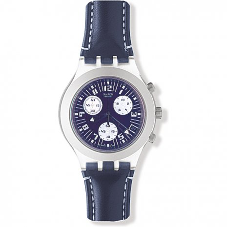 2b75020a744 Swatch Thunderstorm-Blue-Leather-Strap SVCK4001C - 2002 Colecção  Outono Inverno. Swatch Irony SVCK4001C Thunderstorm Blue Leather Strap  relógio